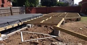 Decking hillsdon landscapes for Garden decking framework